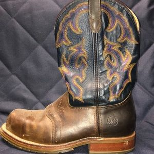 Double H Steel Towed Cowboy Non-Slip work boot